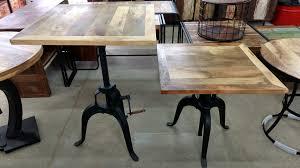 Stehtisch Bartisch Bistrotisch Tisch Höhenverstellbar 90 Cm Massiv