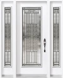 single entry door with two sidelites from classic collection and pertaining to front glass insert plans 1