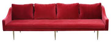 red velvet sofa. Retro Red Velvet Sofa