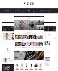 Cute Fashion Magazine Multipage Html5 Website Template
