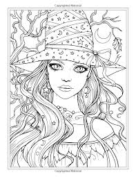 autumn fantasy coloring book witches vires and autumn fairies