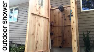awesome outdoor shower tour cape cod outside enclosure kit