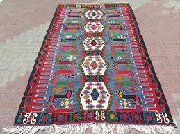 it on 8 anatolia turkish antalya barak kelim carpet 70 8 x 113 3 with multi color diamond pattern