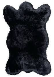 faux bear skin rug canada m black fur without head and claw with