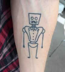 My First Tattoo The Robot Butler I Designed Myself Is One Year Old