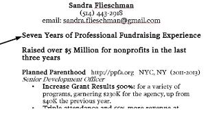 Sample Fundraising Resume