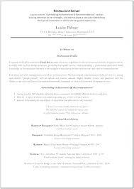 Resume For Food Server Fast Food Server Resume Sample Samples Objective Bartender Bar Work