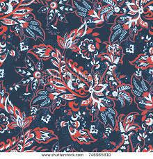 Bohemian Patterns Inspiration Paisley Vector Seamless Pattern Fantastic Flower Stock Vector