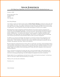 Cover Letter Project Manager Cover Letter Examples Sr Project