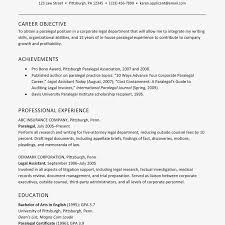 Sample Resume For Experienced Corporate Paralegals