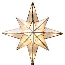 GE 10in Capiz Lighted Incandescent Capiz Star Christmas Tree Christmas Tree Lighted Star