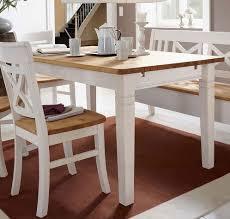 Esstisch 12078 Tisch Küchentisch Kiefer Massiv Weiß Gelaugt Frisch