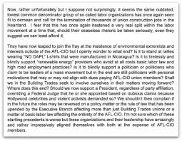 """to overcome the """"very real split in the labor movement"""" on  nabtu excerpt"""