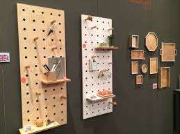 wood pegboards to decorate your walls