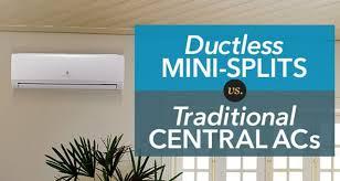 Pioneer Mini Split Pressure Chart Ductless Mini Splits Vs Central Air Conditioners