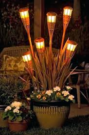 led tiki torch the best farmhouse torches ideas on home outdoor lights exterior small decking swimming