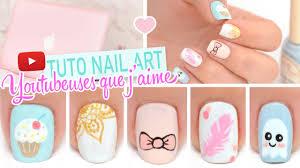 Nail art ♡ Inspiration Youtubeuses que j'aime - YouTube