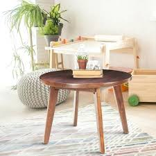 24 round coffee table trails mid century modern round genuine walnut inch coffee table 24