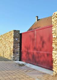 fence gate designs. This Sliding Gate Has Been Painted A Gorgeous, Bold Color. Again, Using Color In Fencing Idea Is Great Way To Add So Much Character The Simplest Fence Designs