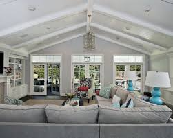 lighting for vaulted ceilings. Family Room - Large Contemporary Open Concept Dark Wood Floor Idea In San Francisco Lighting For Vaulted Ceilings C