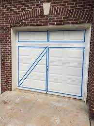 If you have more then one garage door, be sure you are following the same  rules of measurement. To do the diagonal lines on the carriage door design,  I used ...