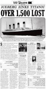 iceberg sinks titanic nie rocks
