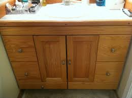 Staining Oak Cabinets Espresso Fresh Redesign Bathroom Vanity Re Design For Under 60 Staining