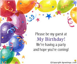 a birthday invitation birthday invitation wording birthday invitation message or text