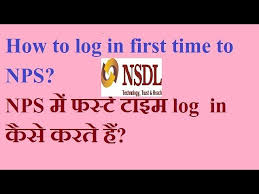 how to log in first time in nps and