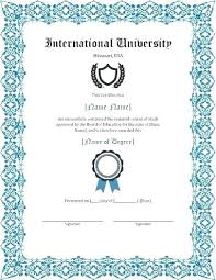 How To Make Fake Certificates Free Free University Diploma Homeish Co