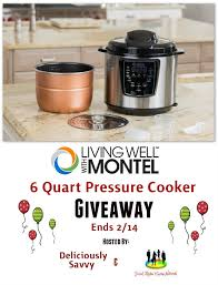 living well with montel pressure cooker giveaway