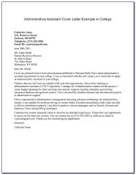 Administrative Cover Letter Example 10 Sample Administrator Cover Letter Resume Samples
