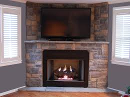 Stone Veneer Gas Fireplace traditional-living-room