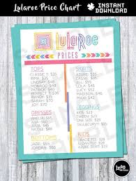 Lularoe Price Chart Lularoe Price Chart List Approved Colors Fonts By
