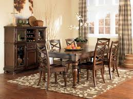 Appealing Walmart Rug On Cozy Lowes Wood Flooring And Parsons Chairs Plus  Dark Wood Dining Table For Elegant Dining Room Design