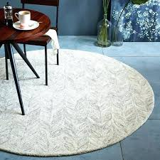 6 feet round rugs foot rug universal ivory area 5 3 inch braided