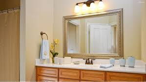 Rustic Varnished Mahogany Wood Plank Mirror Frame Mixed Modern