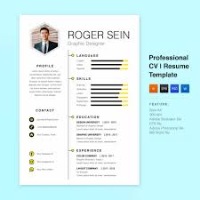 10 Best Free Download Resume Templates For Professional Picastock