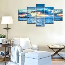 island wall decor island sunset landscape oil painting wall art living room decor modular high quality art island themed room decor
