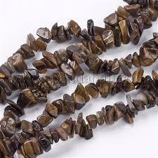 Wholesale <b>Natural Tiger Eye</b> Stone Bead Strands, Chip, 4~10x4 ...