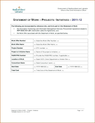 Simple Statement Of Work Template Scope Sow Template For It Projects Meaning In Statement Of