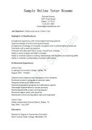 Math Tutor Resume Sample