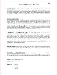 Awesome Assistant Warehouse Manager Job Description Excuse Letter
