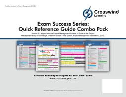 project management quick reference guide crosswind success series project management professional pmp