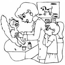 You could also print the picture while using the print button above the image. Scared Cat At Veterinarian Office Coloring Page