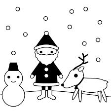 クリスマスの白黒イラスト 無料 イラストk