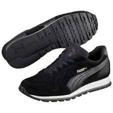 puma shoes suede black. image is loading puma-st-runner-sd-trainers-shoes-suede-suede- puma shoes suede black p