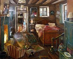 a tiny guest house interior by monique valdeneige french artist