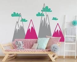 woodland mountain wall art