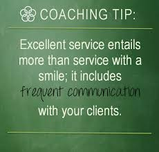 Great Customer Service Means Coaching Tip Tuesday Excellent Customer Service Means